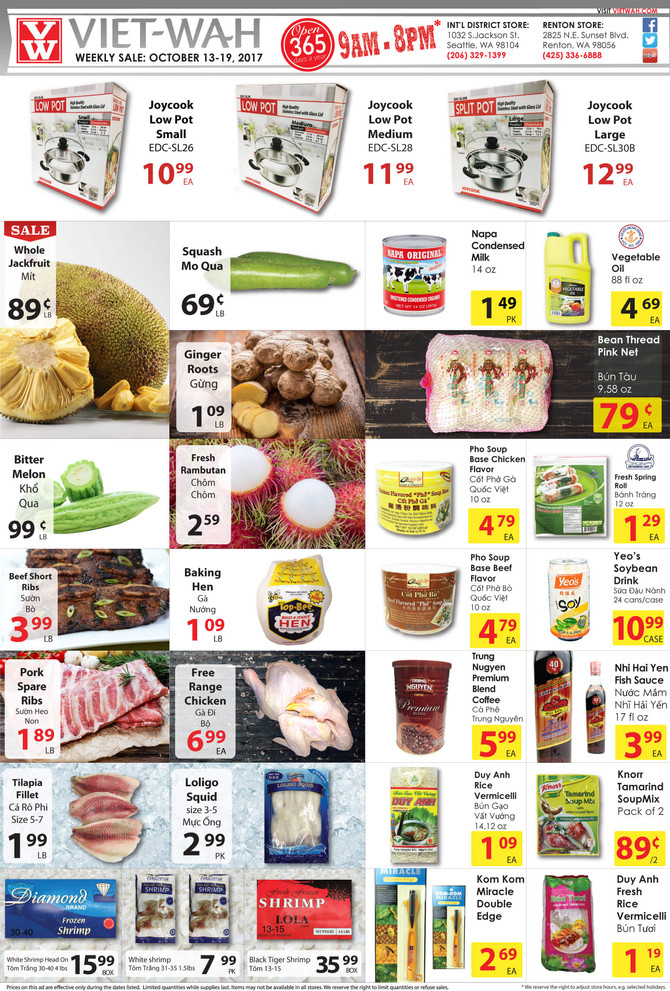 Weekly Ad (Oct 13-19, 2017)