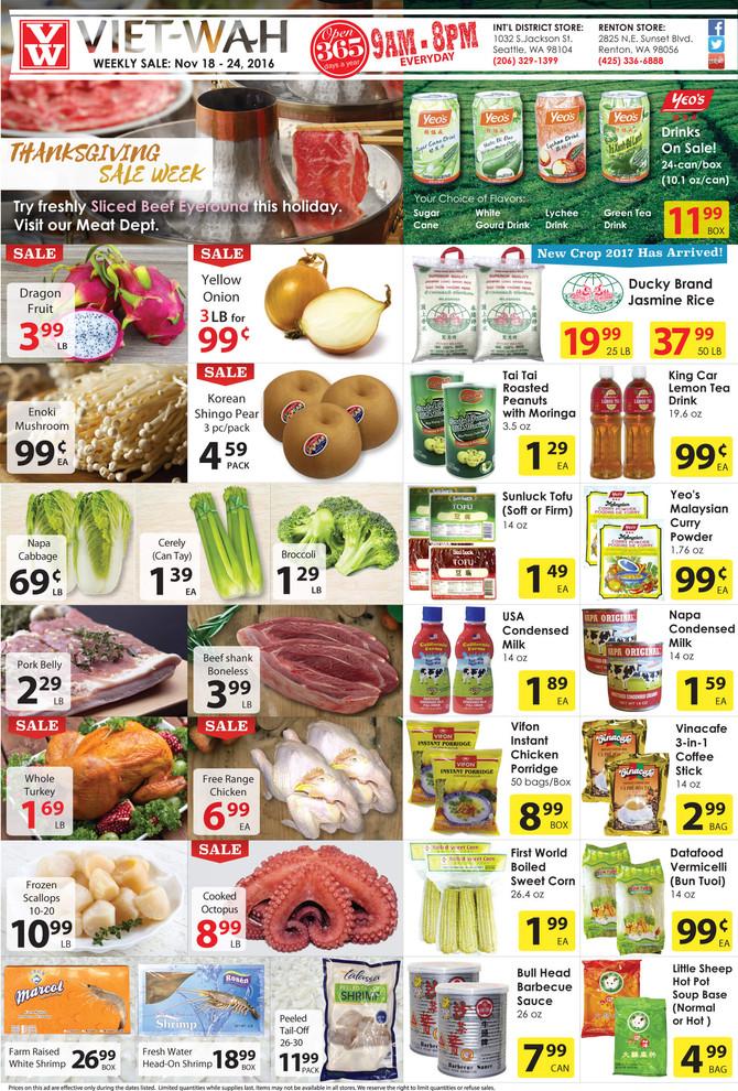Thanksgiving Weekly Ad (Nov 18-24, 2016)