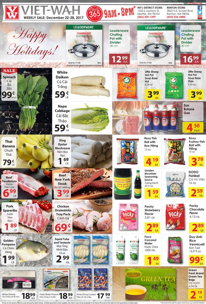 Weekly Ad (Dec 22-28, 2017)