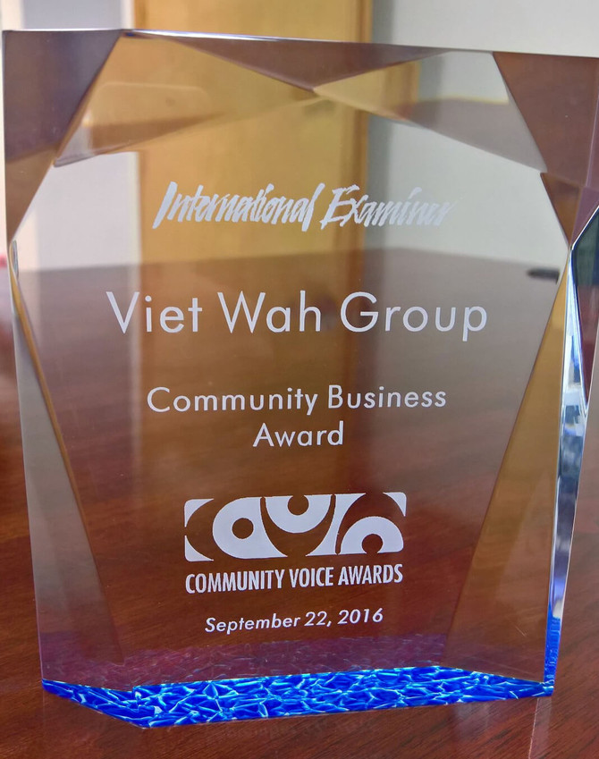 Viet-Wah Group Honored with Community Business Award