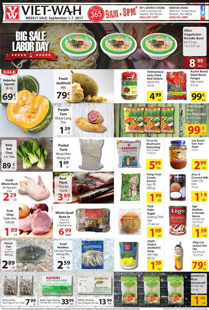 Weekly Ad (Sept 1-7, 2017)