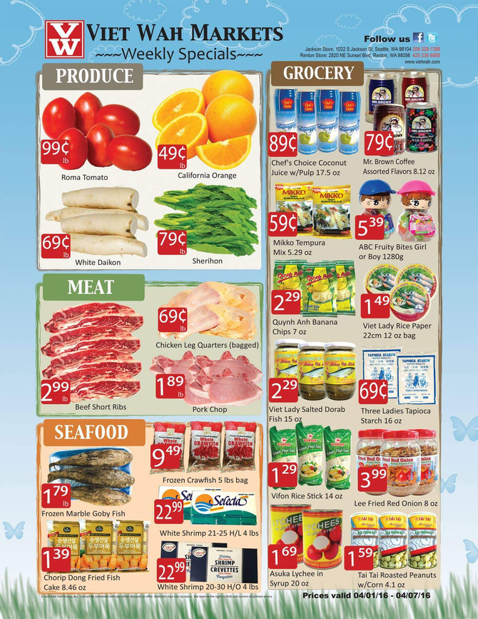Weekly Ad April 1-7, 2016
