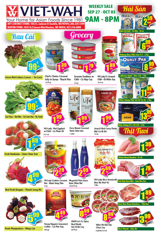 Weekly Ad (Sept 27 - Oct 3, 2019)