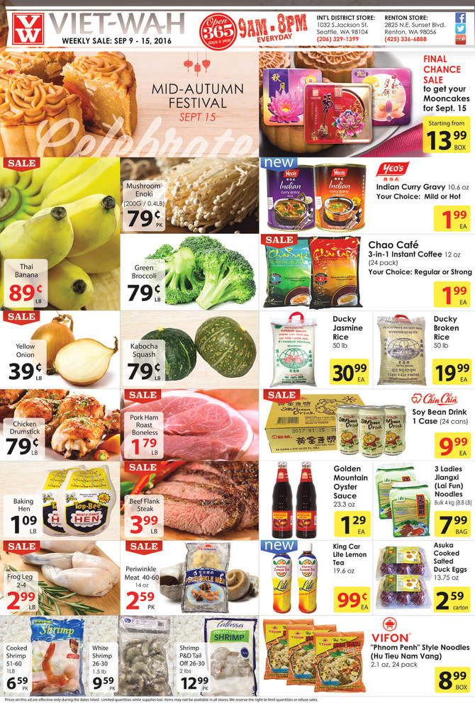 Weekly Ad (Sept. 9-15, 2016)