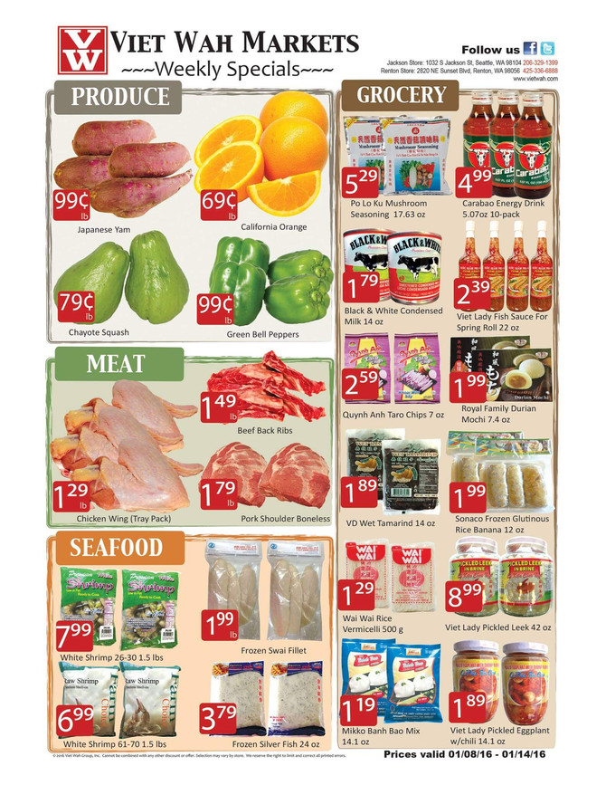 Weekly Ad Jan 8-14, 2016