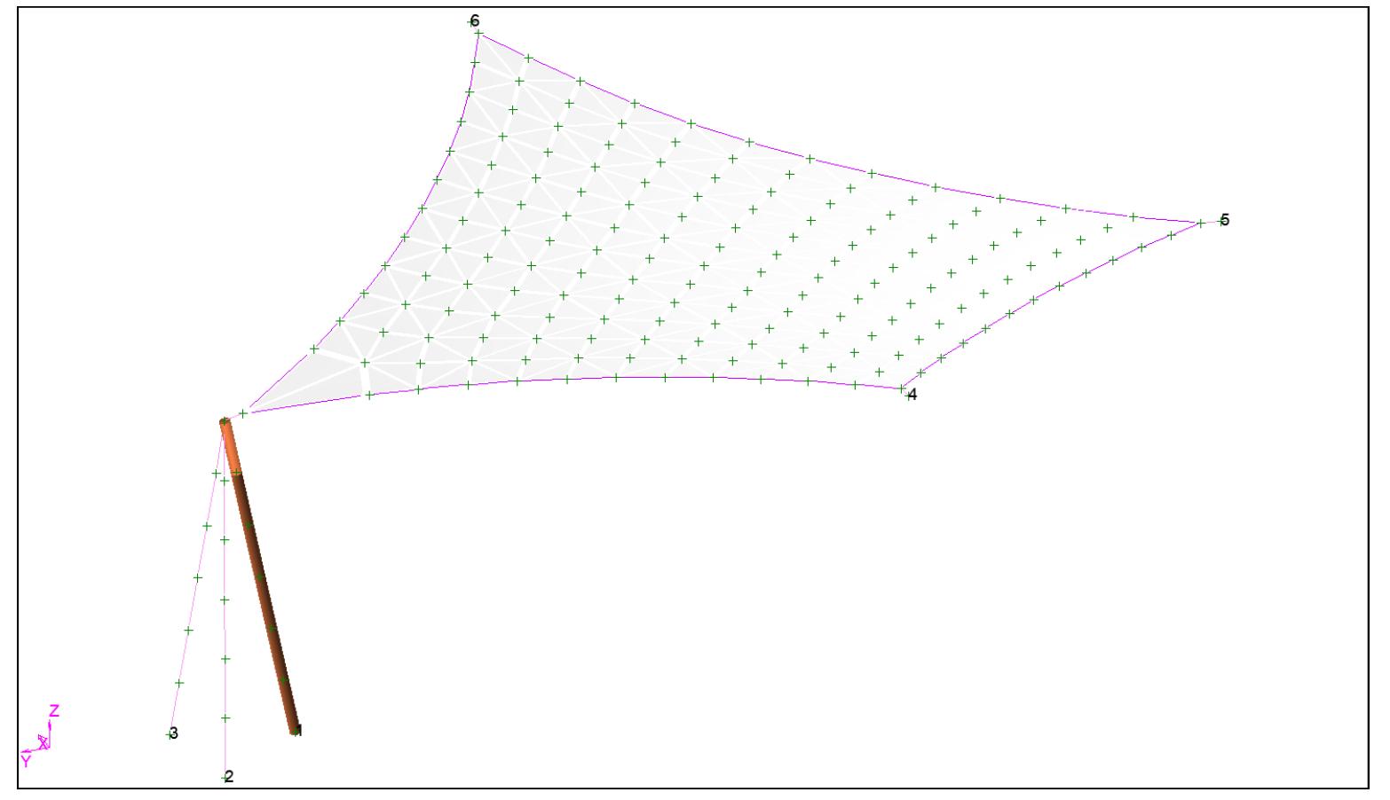 Computer Modellling Shade Sail