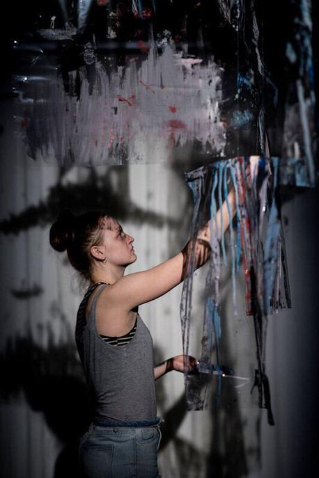 Hannah Adams in her own work Transitory