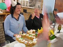 Community coach Judy and birthday girl A