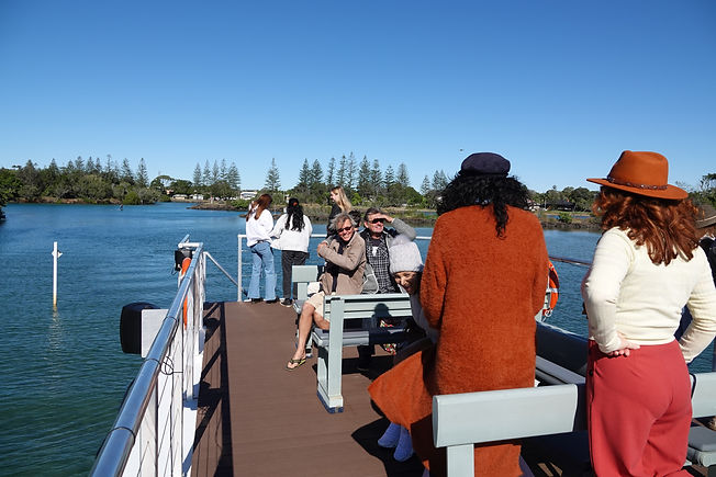 Happy-guests-on-wildlife-viewing-deck-of