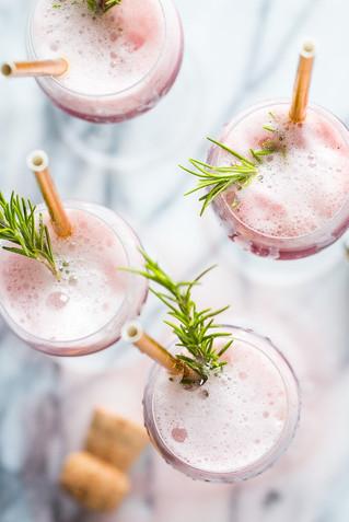 Mimosas de vino rosado