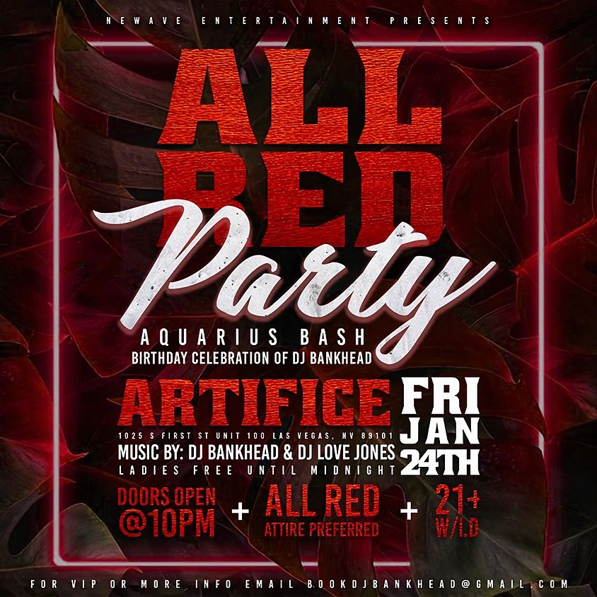 All Red Party at Artifice