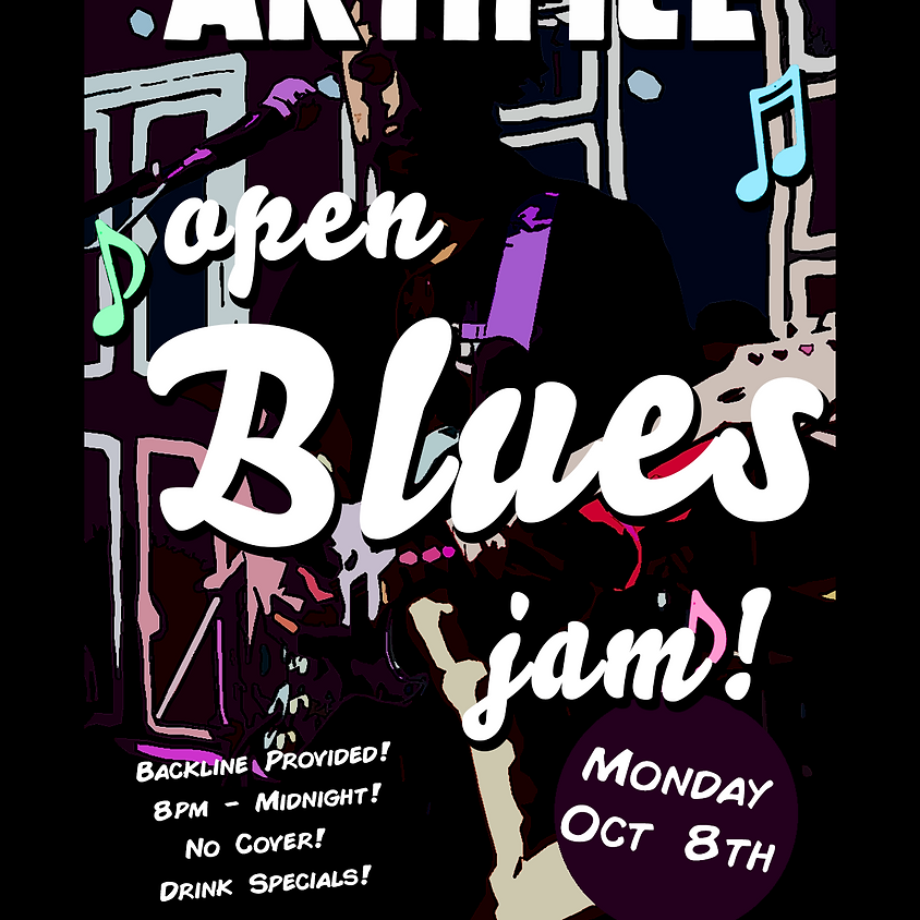 Artifice Open Blues Jam! Monday After First Friday