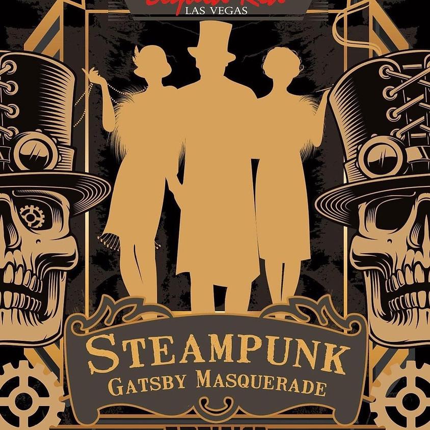 Liquid Red Steampunk Gatsby Masquerade