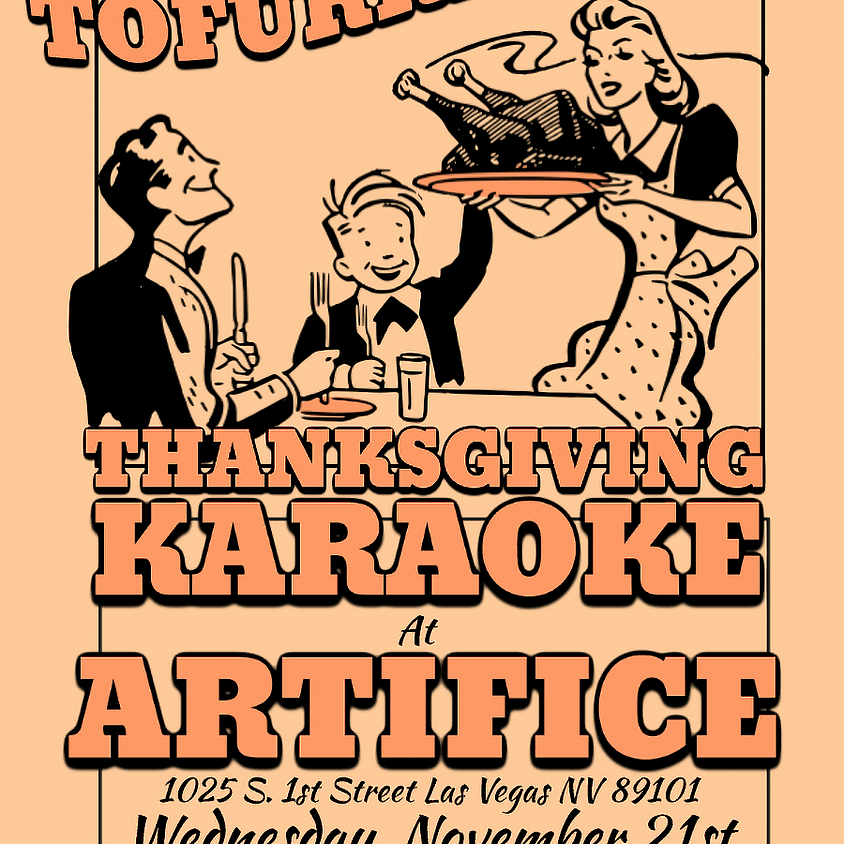 Tofurkey-oke: Thanksgiving's Eve Karaoke!