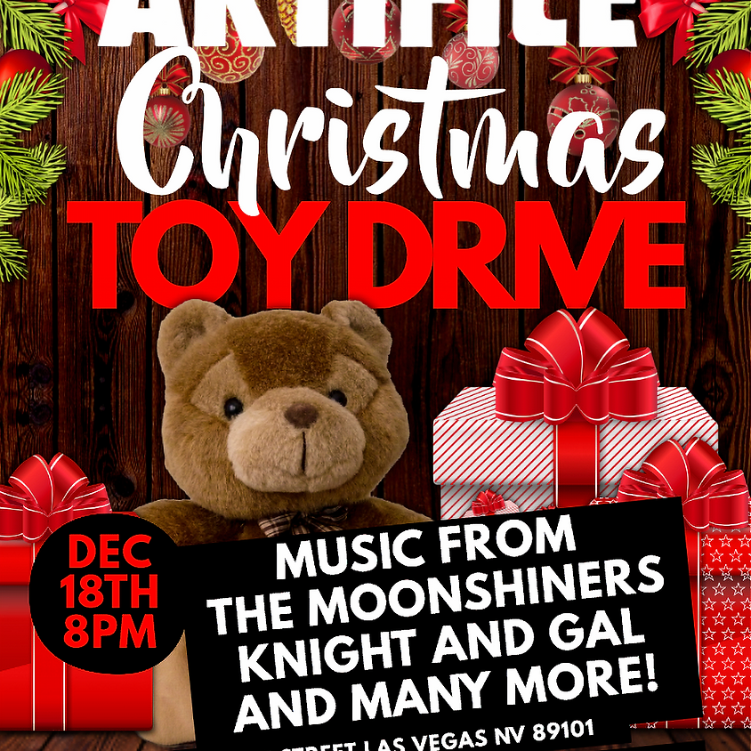 Artifice Xmas Toy-Drive W/ The Moonshiners and More!