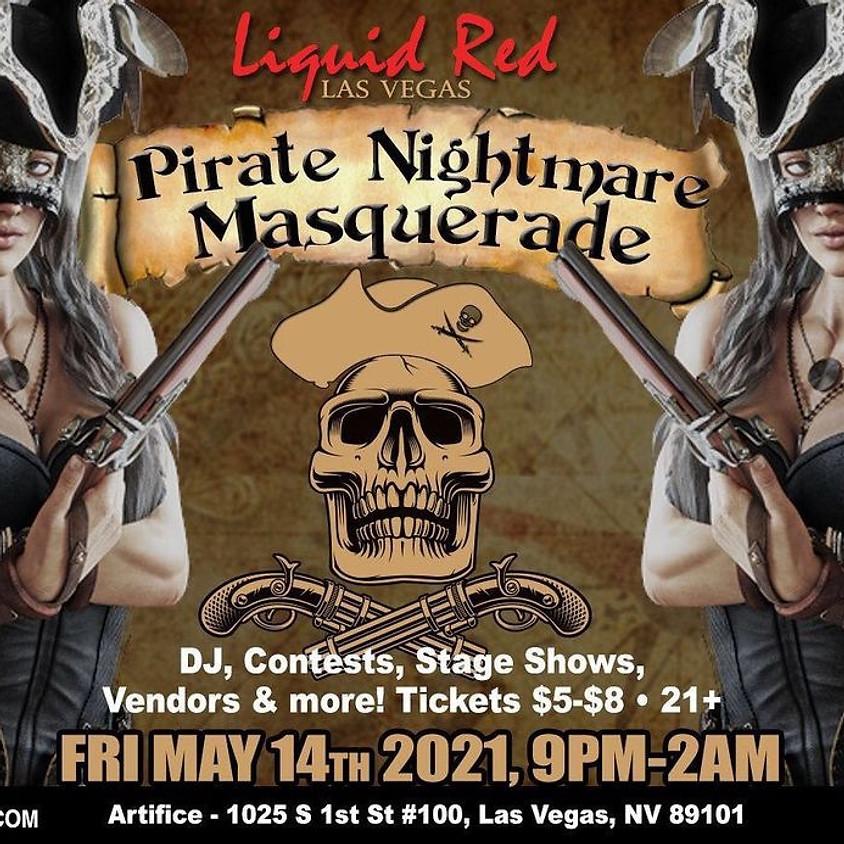 Liquid Red Pirate Nightmare Masquerade