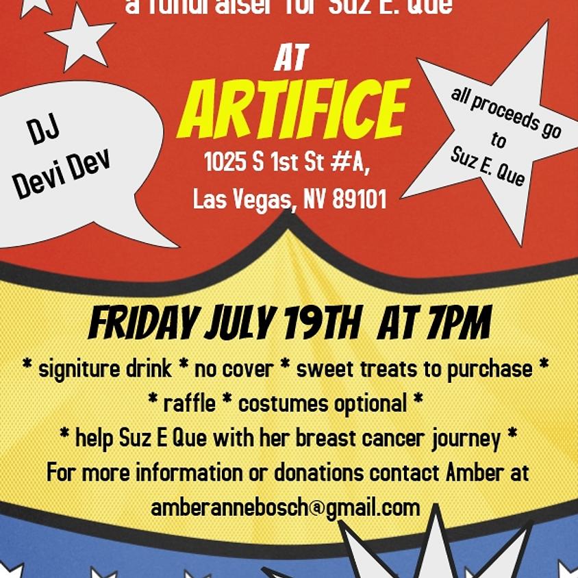 Superhero Party! Fundraiser for Suz. E. Que