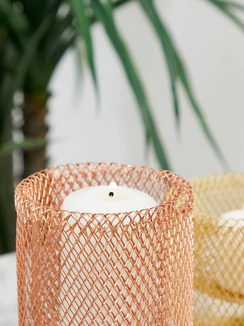 Rose Gold Wire Candle Holder