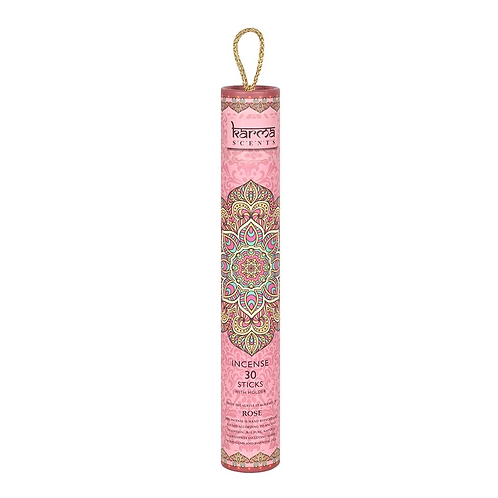 Karma Incense Sticks + Wood Burner - Rose