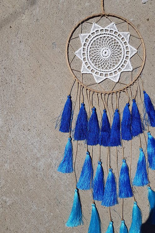 Tassel Dreamcatcher - Shades of Blue