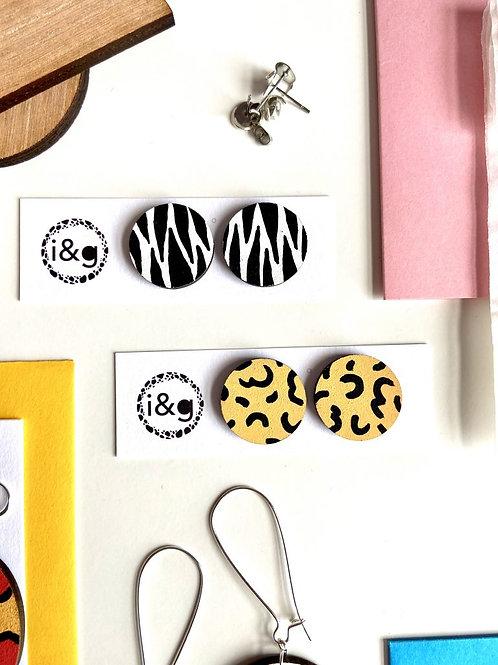 Zebra + Cheetah Duo Set - Handmade Jewellery