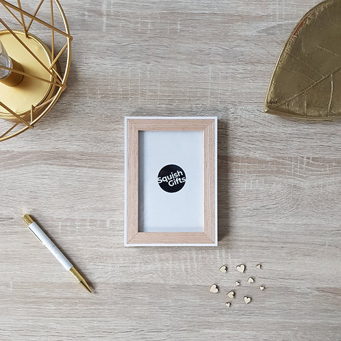 White and Natural Nordic Photo Frame
