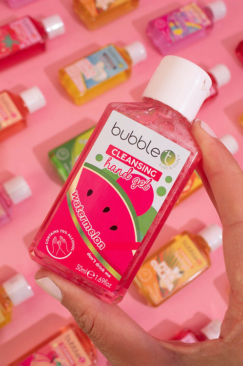 Watermelon Anti-Bacterial Cleansing Hand Gel - 70% Alcohol