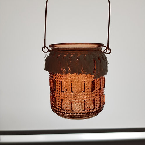 Blood Orange Lantern - Rectangle + Dots