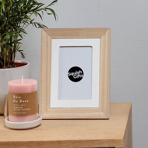 Natural + White Wood Photo Frame