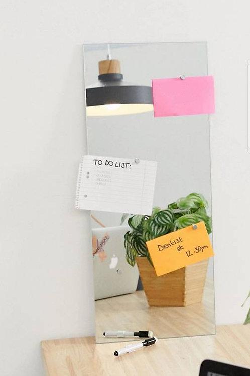 Long Mirror + Memo Board With Pen