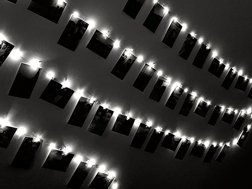 10M USB LED String Lights + 50 Clear Pegs - Warm White