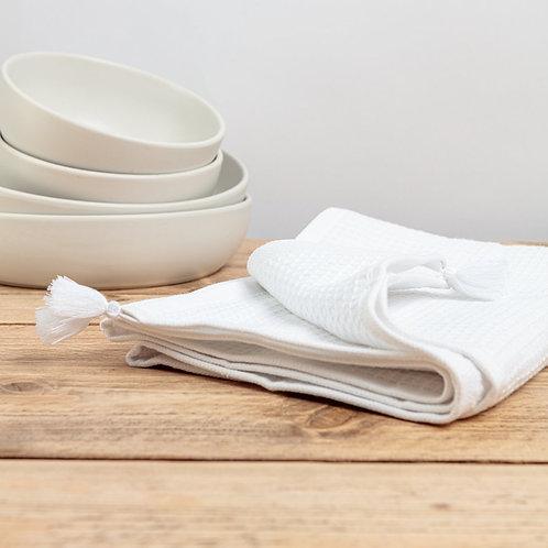 White Waffle Hand Towel