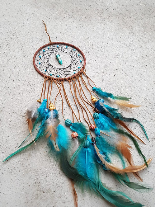 The Teal Feather Dreamcatcher