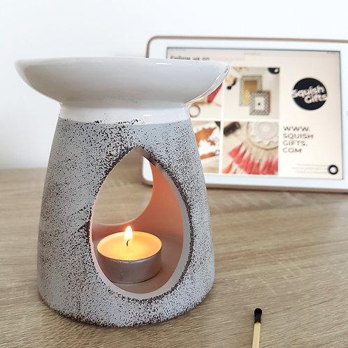 Ceramic Grey + White Oil Burner