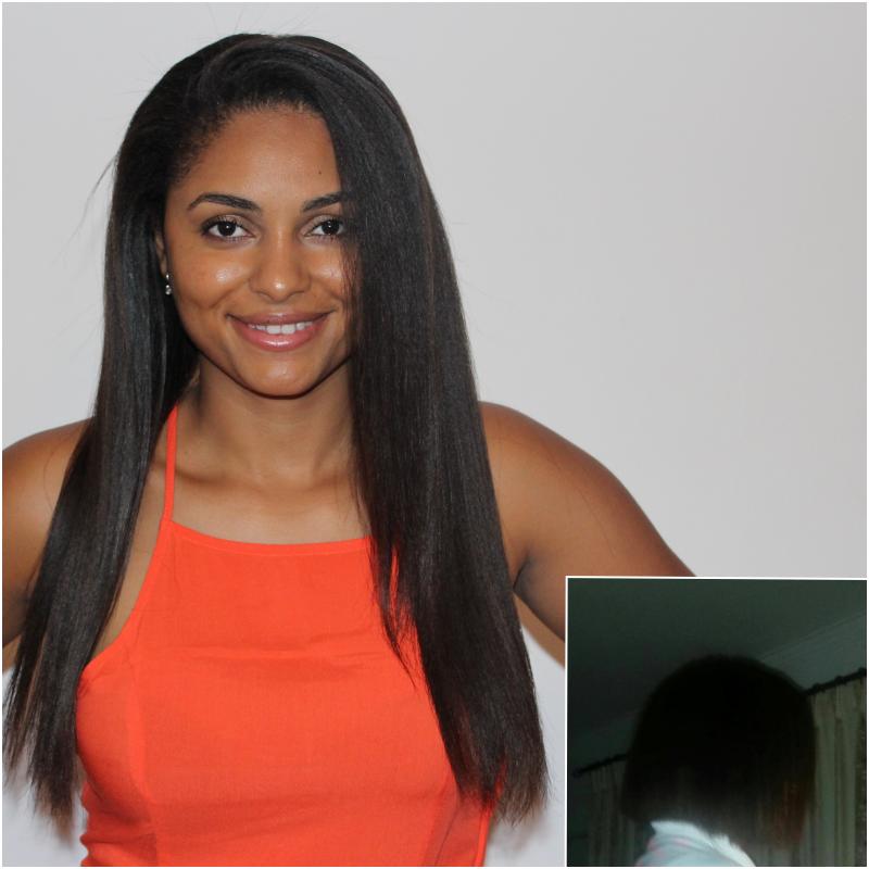 cheveux défrisés de la blogueuse OmeuCabeloAfricano