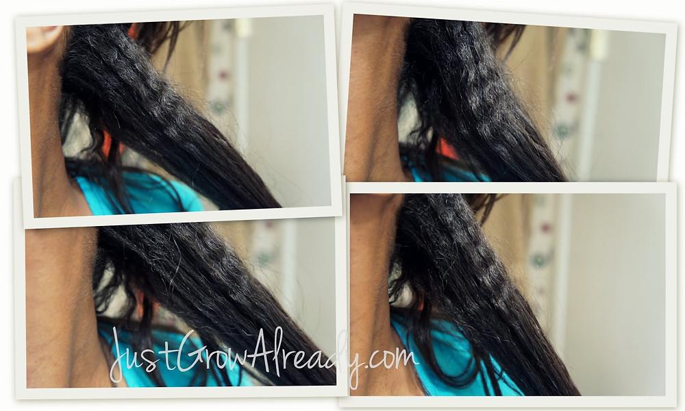 Justgrowalready cheveux défrisés cheveux assouplis