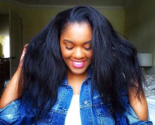 PeggyPeg : Mes cheveux défrisés m'arrivent jusqu'au milieu du dos