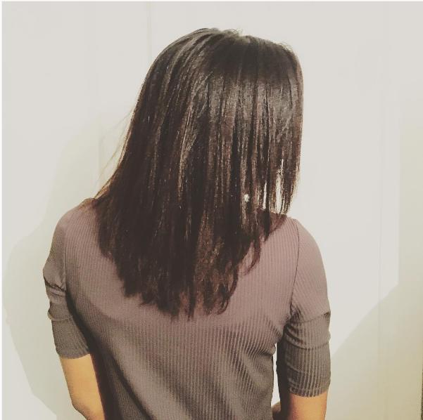 routine cheveux défrisés