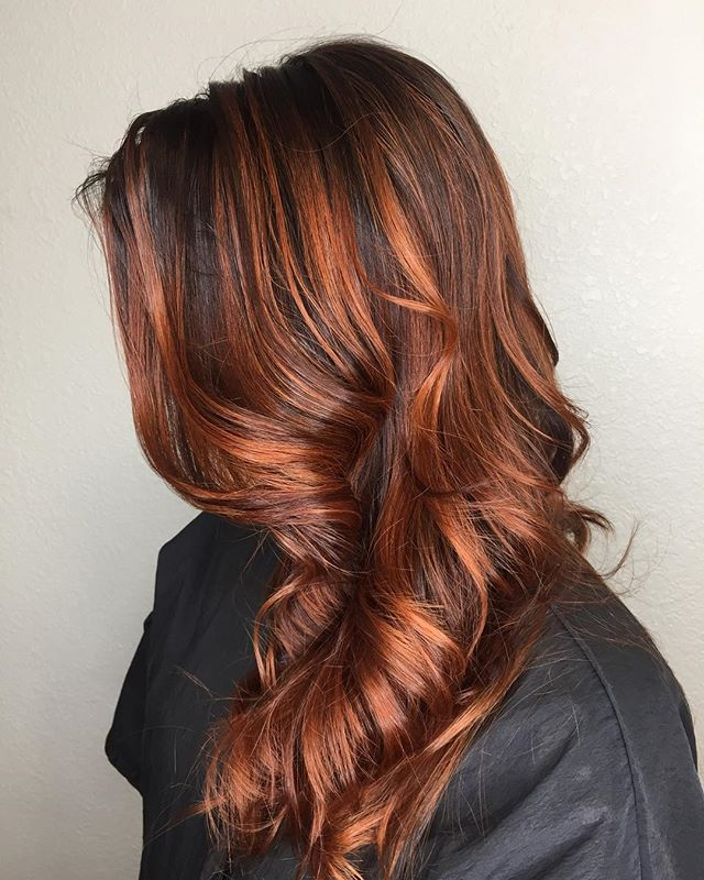New fall color for my client in the previous post it was straight now curled