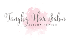Logo Tanglez Hair Salon Alisha Repich