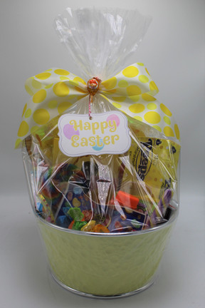 Yellow Classic Easter Basket