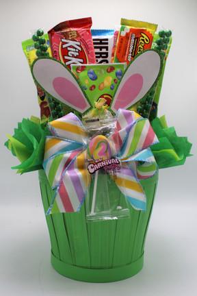 Green Bunny Ear Basket