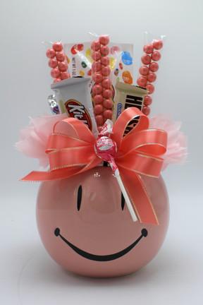 Peach Smiley Pot