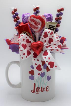 Heart Flowers Mug