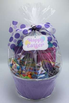 Purple Classic Easter Basket