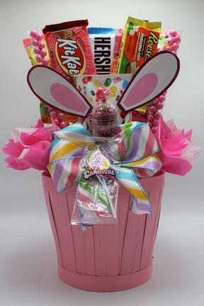 Pink Bunny Ear Basket