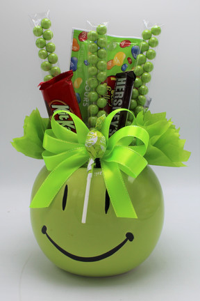 Green Smiley Pot