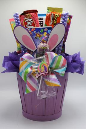 Purple Bunny Ear Basket