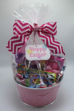 Pink Classic Easter Basket