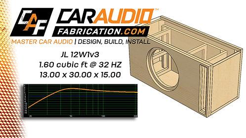 F0010 - JL Audio 12W1v3 - 1.60 Cubic Ft @ 32HZ